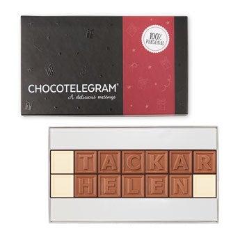Choklad meddelande (14 bokstäver)
