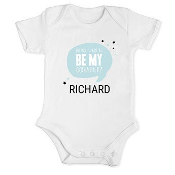 Will you be my godfather romper - White 50/56