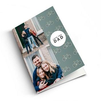 Cartão com fotos do dia dos pais - XL - Vertical