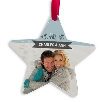Aluminio de suspensión de Navidad - Estrella (4)