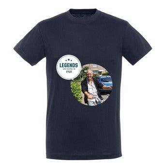T-paita - Miehet - Sininen - L