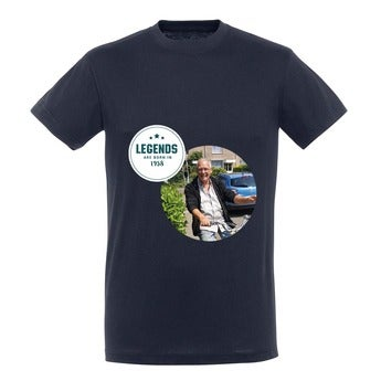 T-Shirt Herren - Navy - L