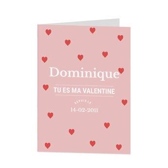 Carte de Saint-Valentin personnalisée