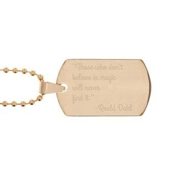 Piastrina Militare (Placcata Oro)