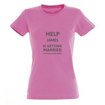 T-shirt - Vrouw - Roze - XXL
