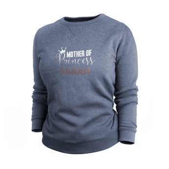 Custom sweatshirt - Women - Indigo - L