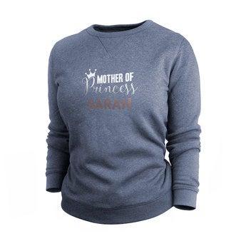 Pullover Damen bedrucken - Blau - L