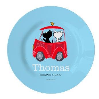 Pim & Pom Barnas tallerken - Bil (1)