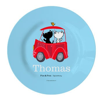Pim & Pom Children's plate - Car (1)