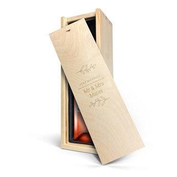 Belvy - Roséwein - Kiste mit Gravur