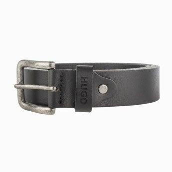 Personalised leather belt - Black (90)