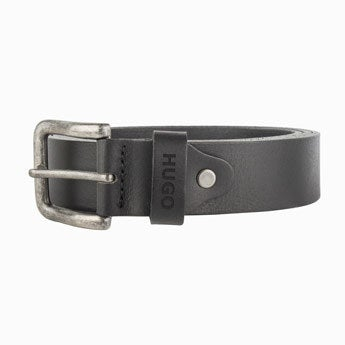 Personalised leather belt - Black (95)