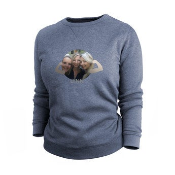 Egyéni pulóver - Nők - Indigo - XL