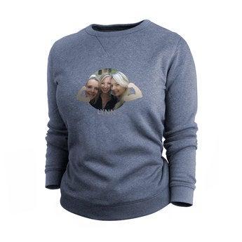 Pullover Damen bedrucken - Blau - XL