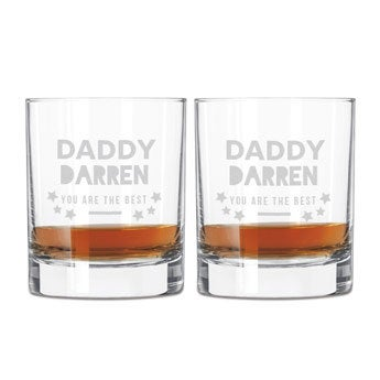 Den otců whisky brýle sada