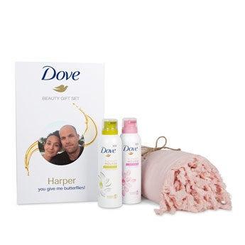 Dove-gaveæske – hammamhåndklæde