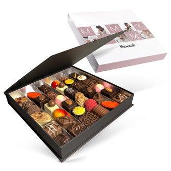 Ylellinen suklaarasia - Äitienpäivä - 36 kpl