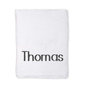 Handdoek met naam - Wit