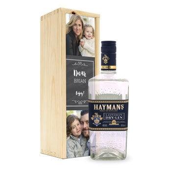 Haymans London Dry w skrzynce z nadrukiem