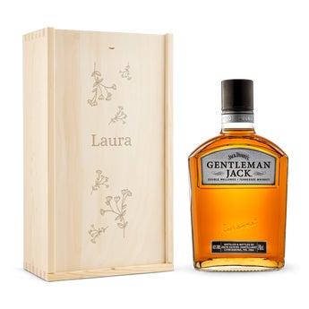 Gentleman Jack Bourbon whisky – indgraveret æske