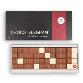 Chocolate telegram - 48 characters
