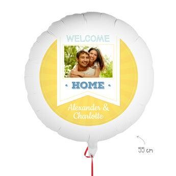 Ballon personnalisé - Bienvenue à la maison