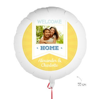 Globo con foto - ¡Bienvenido a casa!
