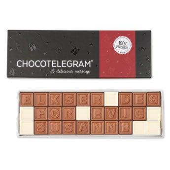 Sjokolade telegram - 30 tegn