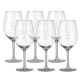 Copo de vinho tinto (conjunto de 6)