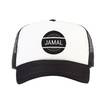 Trucker cap - Zwart/wit