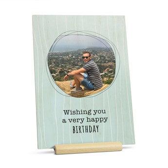 Cartão de madeira - vertical