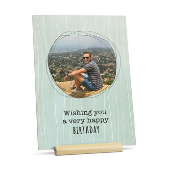 Drewniana kartka z życzeniami