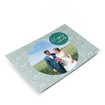 Huwelijk ansichtkaart met foto