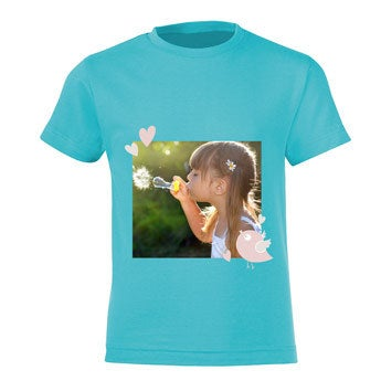 T-shirt - Kids - Lichtblauw - 8 jaar