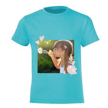 T-Shirt Kinder - Hellblau - 8 Jahre