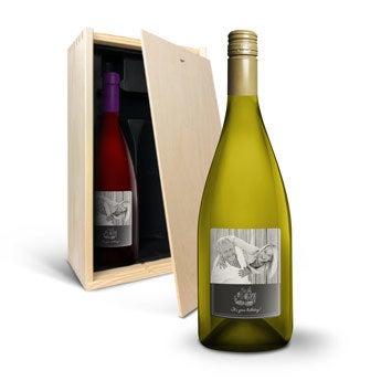 Vino con Etichetta Stampata - Pinot Noir e Chardonnay