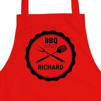 Czerwony fartuch BBQ