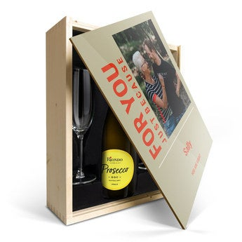 Riondo Prosecco Spumante - In personalised case