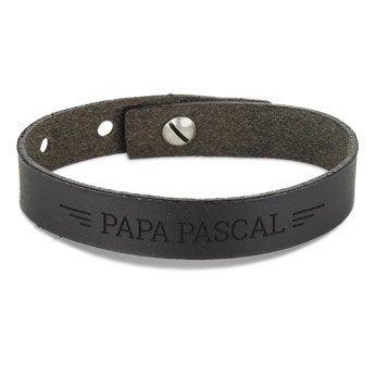 Bracelet Fête des Pères - Cuir