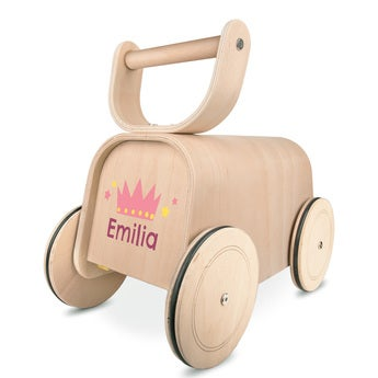 Wooden car push-along toy 3-in-1