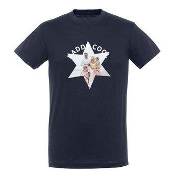 T-paita - Miehet - Sininen - XXL