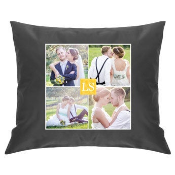 Cushion case - Dark grey - 50 x 60 cm