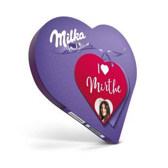 Coeur Milka personnalisé