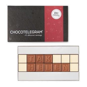 Chokolade telegram - 14 tegn