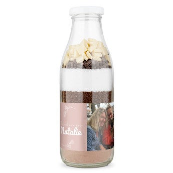 Mother's Day brownie baking mixture with personalised label
