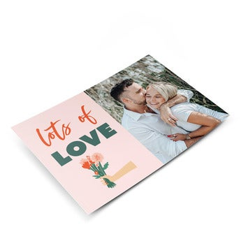 Liefde ansichtkaart met foto