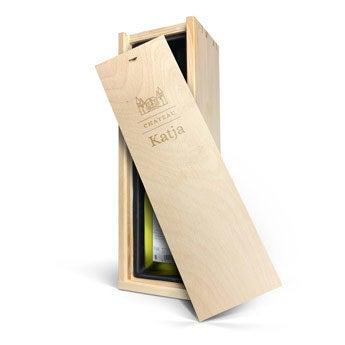 Luc Pirlet Chardonnay - Weinkiste mit Gravur