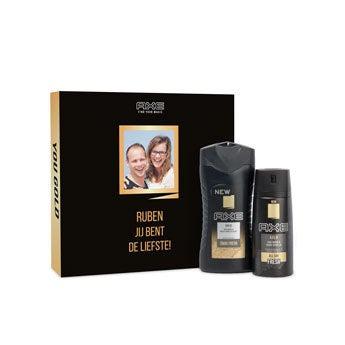 Axe geschenkset - Bodywash & deodorant - Gold