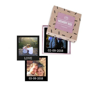 Fotos impressas em caixa de presente - Polaroid