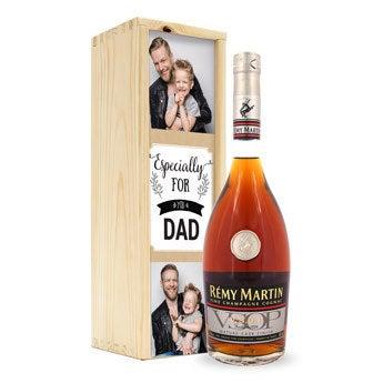 Rémy Martin VSOP brandy in personalised case